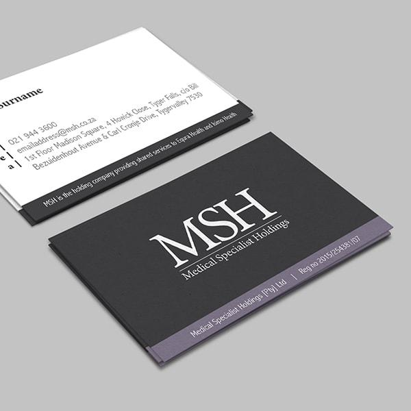 Business Card Design - MSH