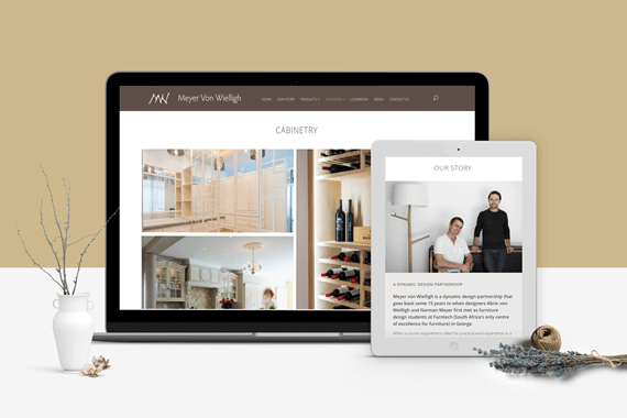 Designer Furniture Portfolio Website - Meyer Von Welligh