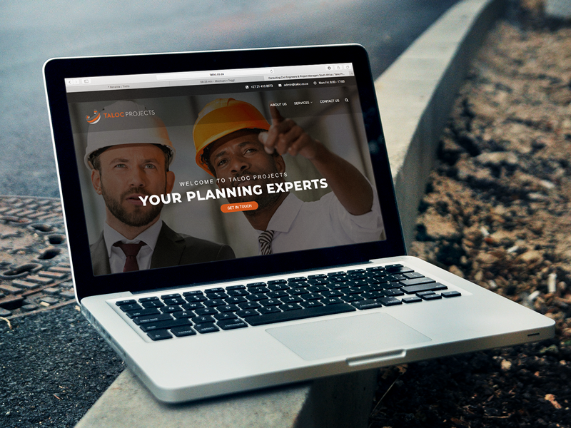 Business Portfolio Website - Taloc Projects